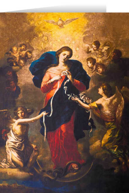 Mary Undoer of Knots Greeting Card