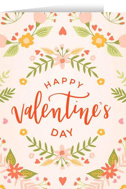 Happy Valentine's Day White Valentine's Day Greeting Card