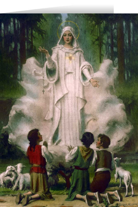 Our Lady of Fatima in Cloud Greeting Card