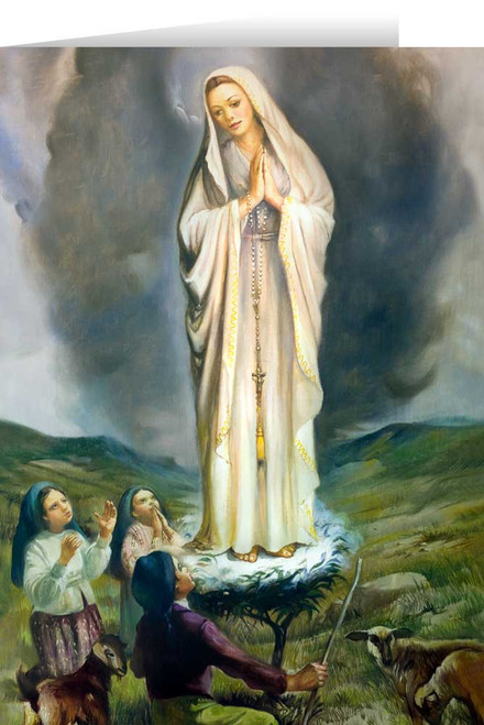 Our Lady of Fatima with Children Greeting Card