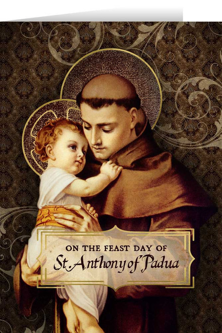 St. Anthony with Jesus Greeting Card