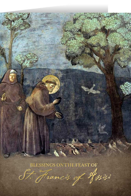 St. Francis with Birds Greeting Card
