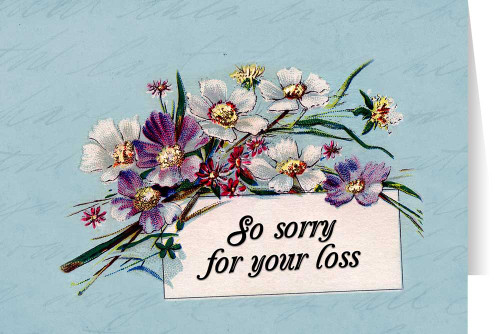 So Sorry for Your Loss Greeting Card