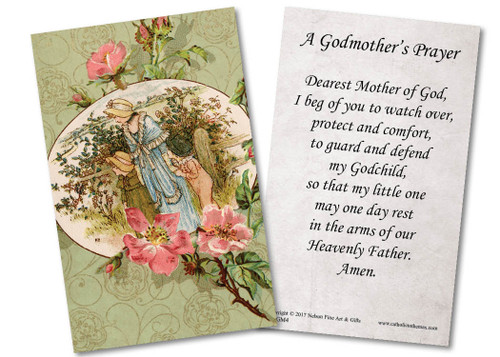 Special Godmother Holy Card