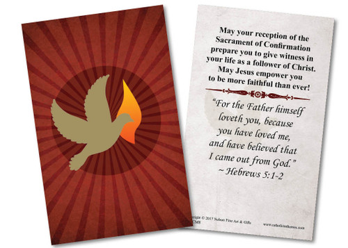 Holy Spirit Dove Confirmation Holy Card