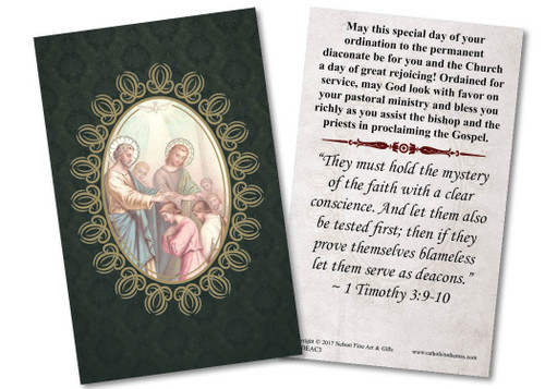 Apostles' Diaconate Ordination Holy Card