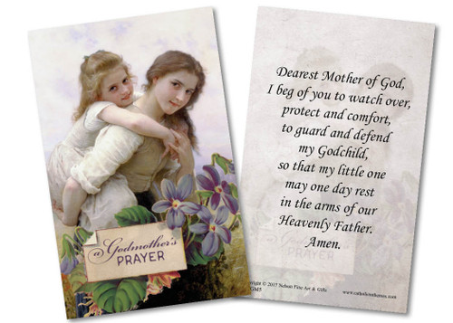 Outdoor Adventure Godmother Holy Card