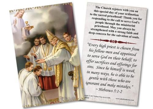 Ordination Holy Card