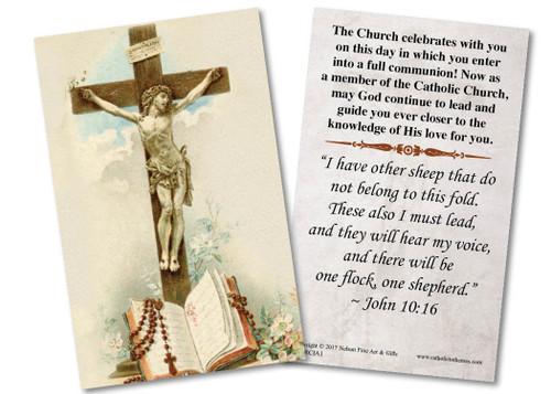 Crucifix RCIA Holy Card