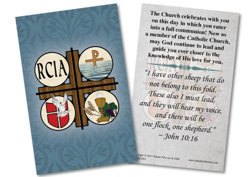 RCIA Symbols Holy Card