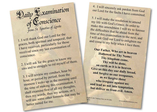 Examination of Conscience Holy Card