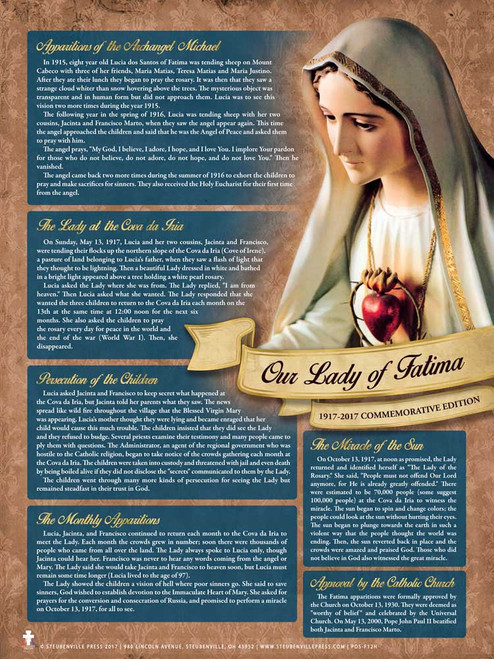 Our Lady of Fatima Explained Commemorative Poster