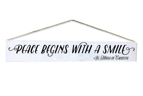 """Peace Begins"" St. Teresa of Calcutta Quote Plaque"