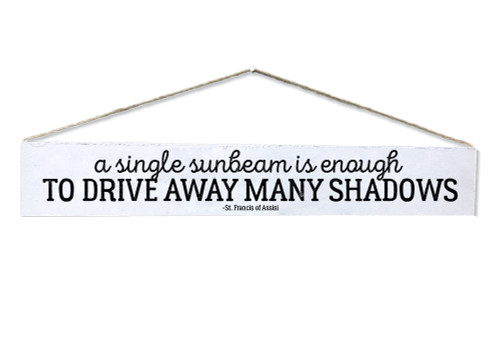 """""""A Single Sunbeam"""" St. Francis of Assisi Quote Plaque"""