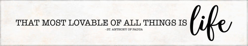"""Most Lovable"" St. Anthony of Padua Quote Plaque"