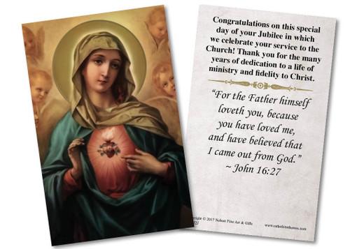 Immaculate Heart Jubilee Holy Card