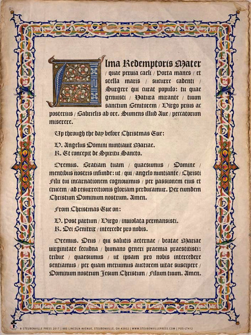 Latin Alma Redemptoris Mater Poster