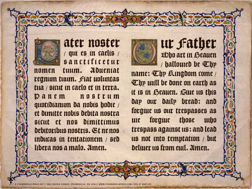 Latin-English Our Father Poster