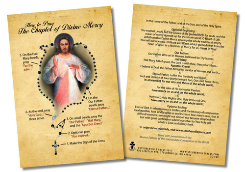 How to Pray the Divine Mercy Chaplet Faith Explained Card
