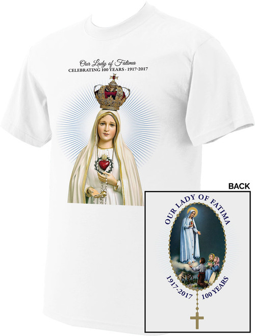 Fatima 100 Year Anniversary Commemorative Logo T-Shirt