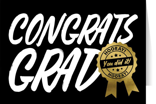 """Congrats Grad"" Graduation Greeting Card"
