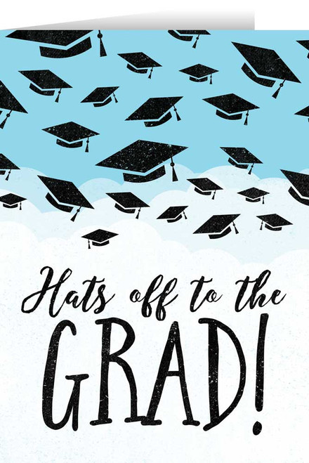 """Hats Off"" Graduation Greeting Card"
