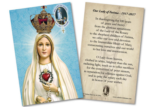 Fatima 100 Year Anniversary Commemorative Holy Card