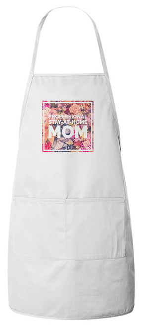 Stay-At-Home Mom Apron (White)