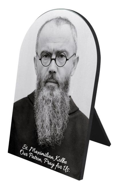 St. Maximilian Kolbe Portrait Desk Plaque