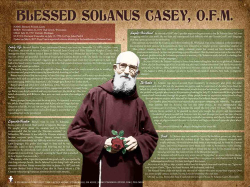 Blessed Solanus Casey, O.F.M. Poster