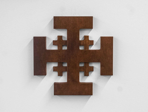 Jerusalem Wood Cross - Walnut Finish