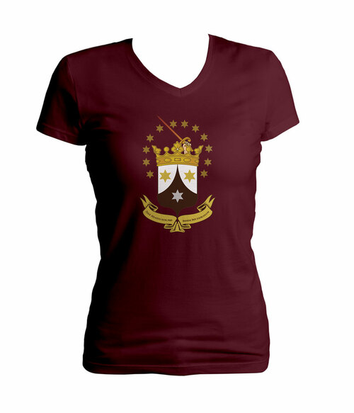 Ancient Carmelite Crest Women's Cut V-Neck T-Shirt