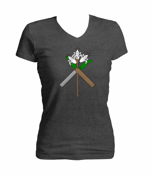 St. Joseph Symbol Women's Cut V-Neck T-Shirt