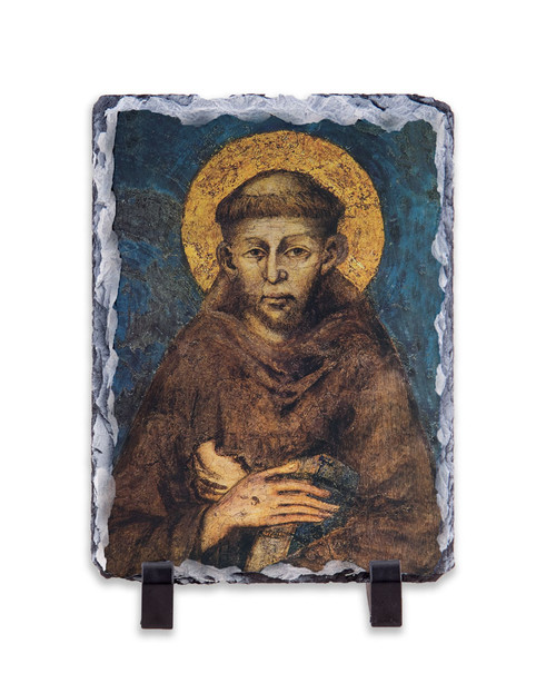 St. Francis by Cimabue Vertical Slate Tile