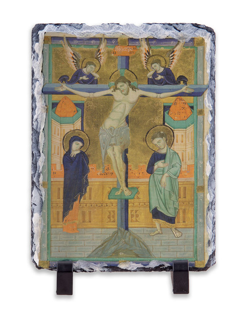 Crucifixion Icon Vertical Slate Tile