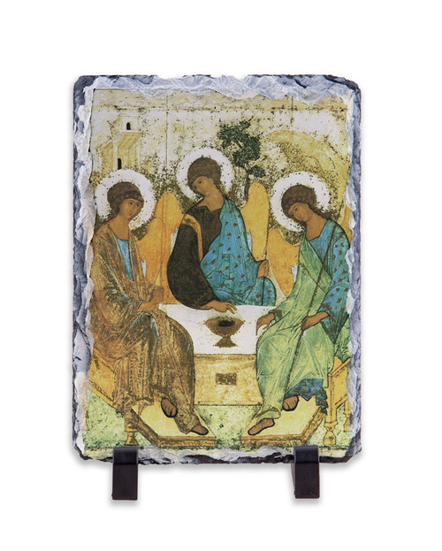 Holy Trinity Angels Vertical Slate Tile