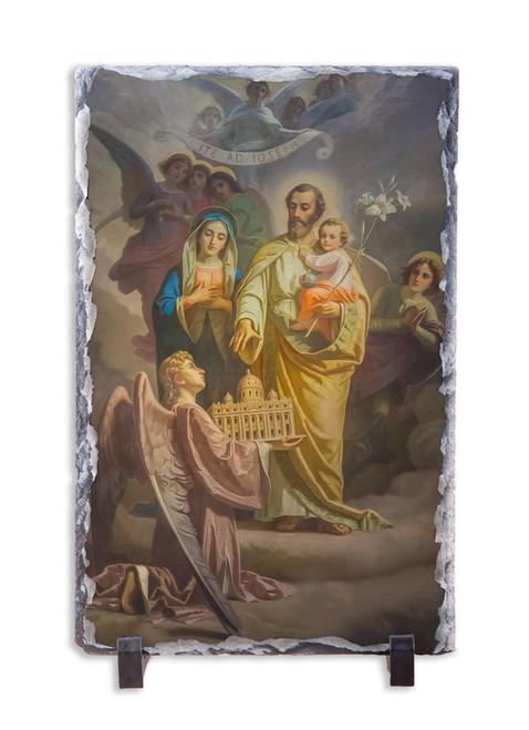 Joseph, Patron of the Church Vertical Slate Tile