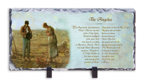 The Angelus by Millet Prayer Horizontal Slate Tile