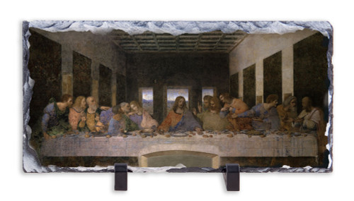 Last Supper by Da Vinci Horizontal Slate Tile