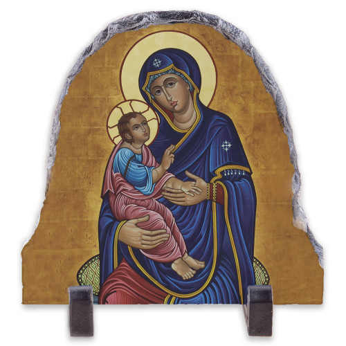 Our Lady of Good Health Arched Slate Tile