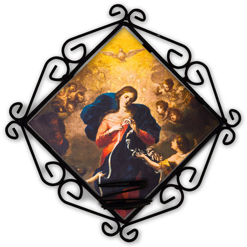 Mary Undoer of Knots Votive Candle Holder