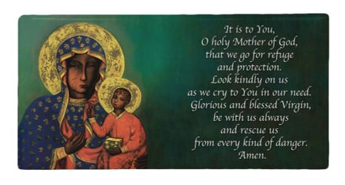 Our Lady of Czestochowa Prayer Hi-Gloss Mini Tile