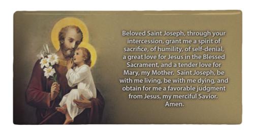 St. Joseph (Younger) Prayer Hi-Gloss Mini Tile