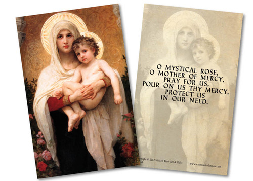 Madonna of the Roses Holy Card