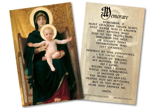Memorare Holy Card
