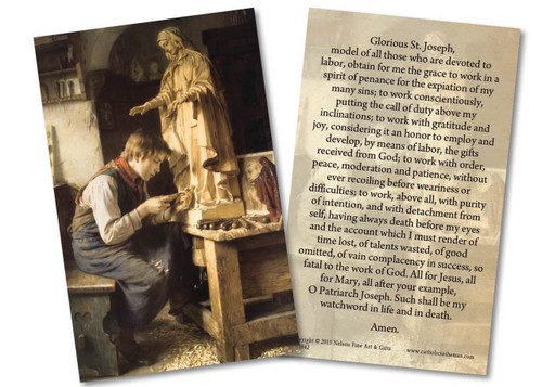 Prayer to St. Joseph Before Work Holy Card