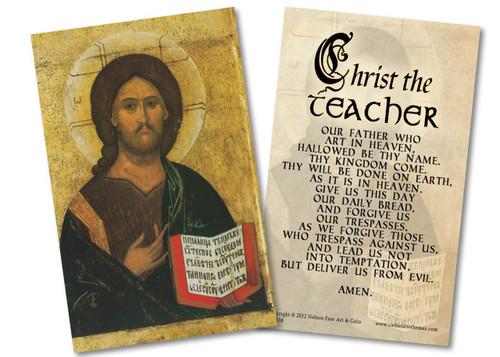 Christ the Teacher Our Father Holy Card