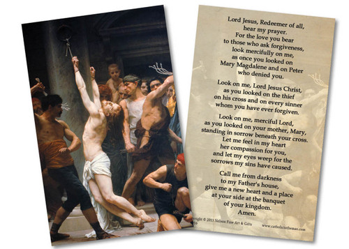 The Flagellation of Christ Holy Card