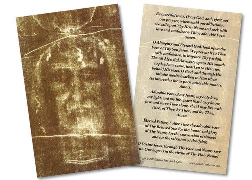 Shroud of Turin Holy Card