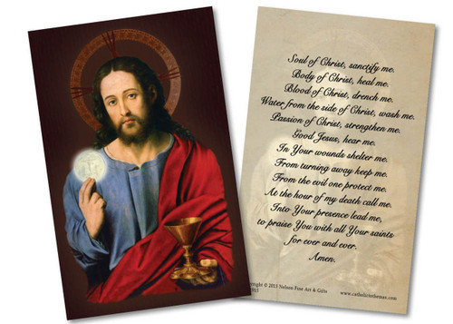 Anima Christi Holy Card